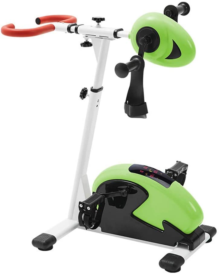 Wghz Pedal Exerciser Electronic Physical Therapy Rehabilitation Stationary Fitness Bike, Arm and Leg Exerciser Machine for Handicap Disabled Stroke Home Physiotherapy Fitness Exercise Bike,A