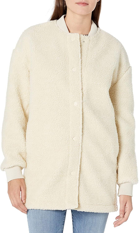 DHgate Brand - Goodthreads Women's Standard Sherpa Long Sleeve Snap Front Coat