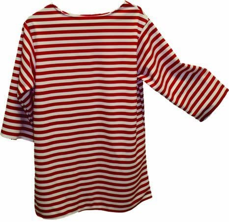Alexanders Costumes 22-228-R Striped Shirt - Red44; Large