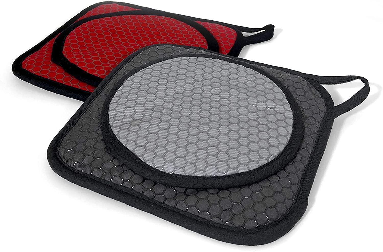 COOKDUO Grab & Grip Duo Folding Pot Holder & Trivet (Black) 1pc