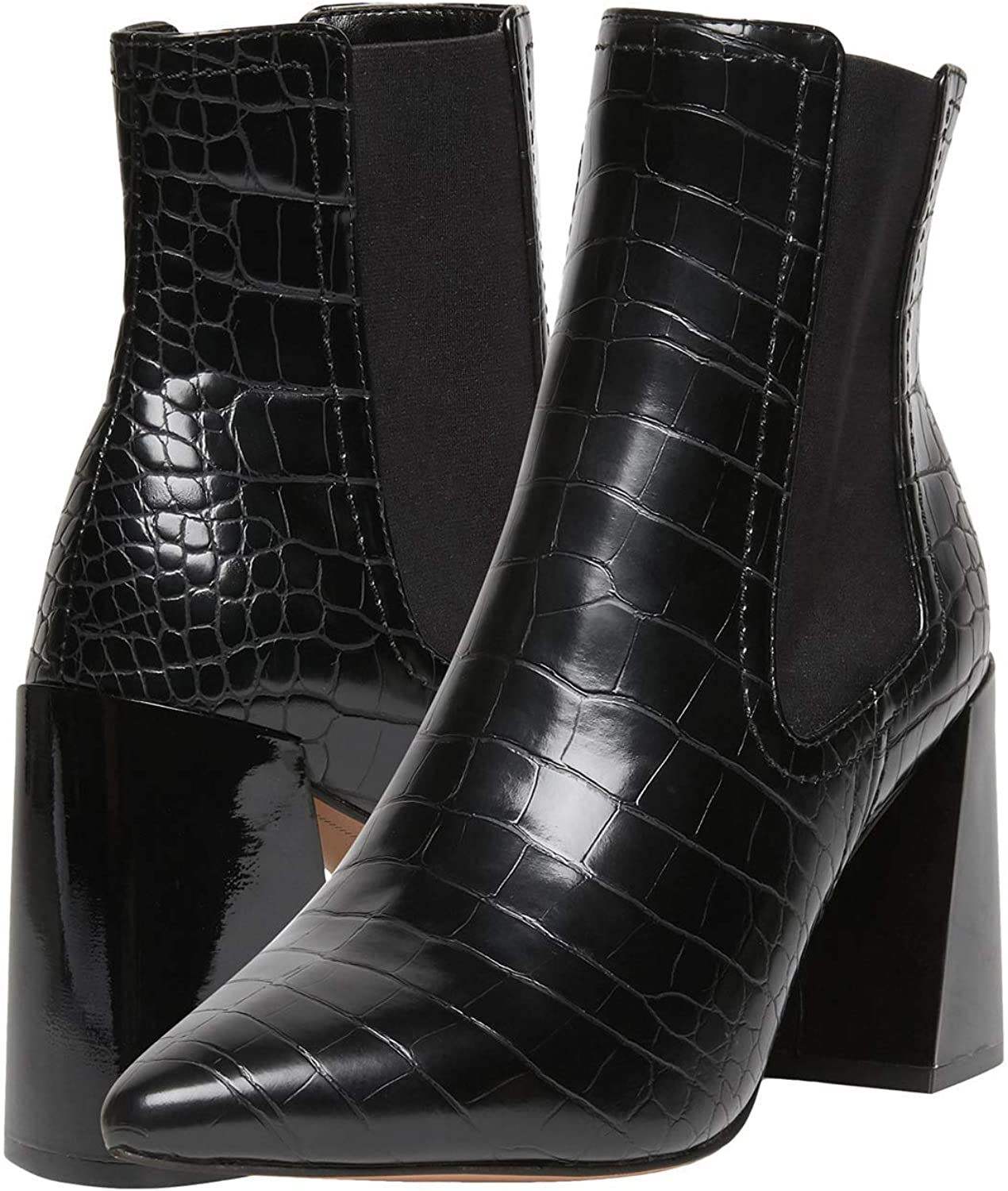Steven New York NICO Bootie, Black Croc, 10 M US