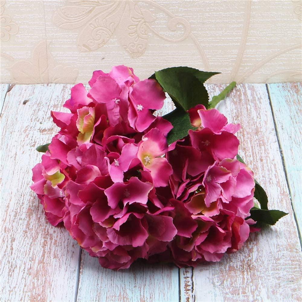 VANESSA Artificial Silk Hydrangea Fake Bridal Bridesmaid Flower Bouquet for Wedding Party Home Decoration (11)