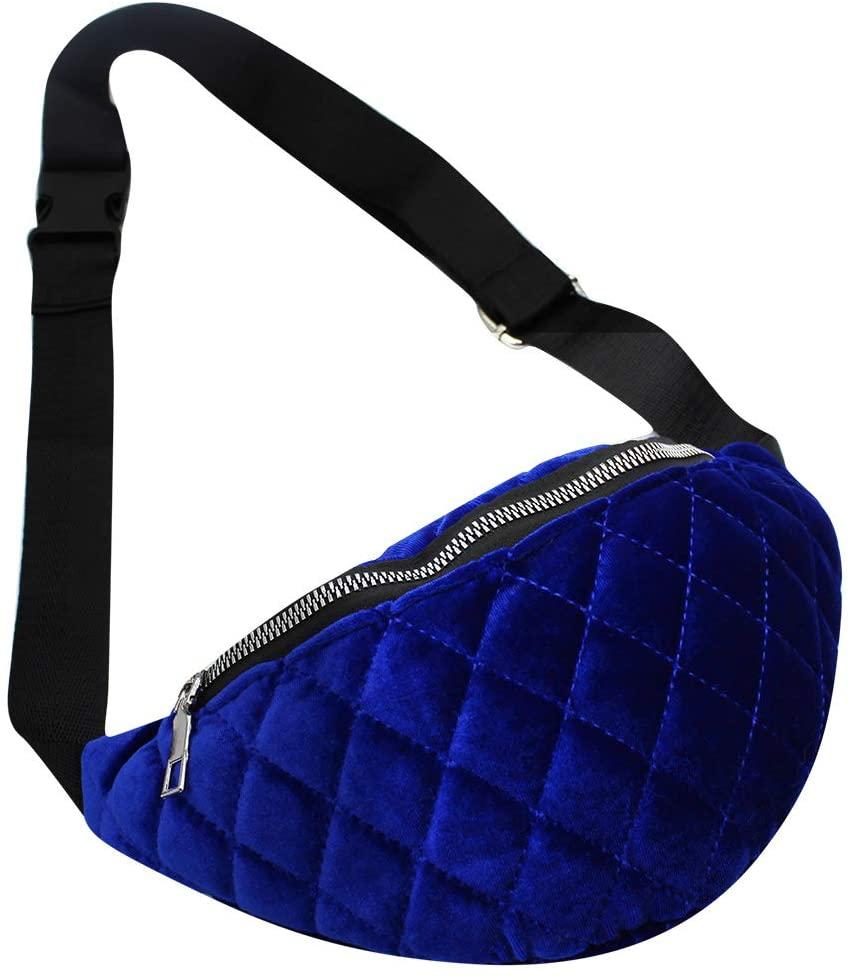 Fashion Small Velvet Fanny Waist Pack Travel Sport Running Belt Bag for Adult Kids