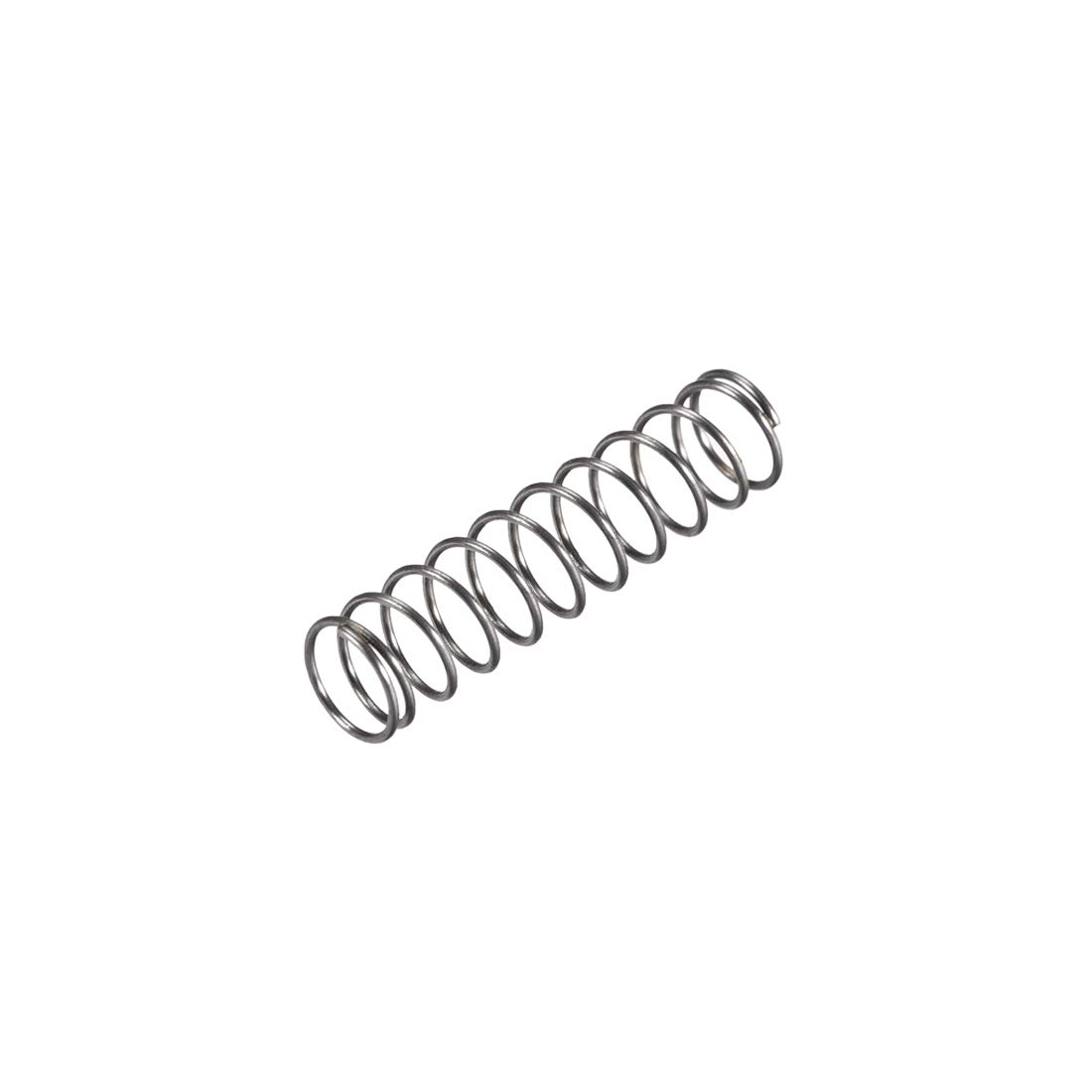 uxcell Compression Spring,6mm OD, 0.5mm Wire Size, 13.75mm Compressed Length, 25mm Free Length,8N Load Capacity,Gray,30pcs
