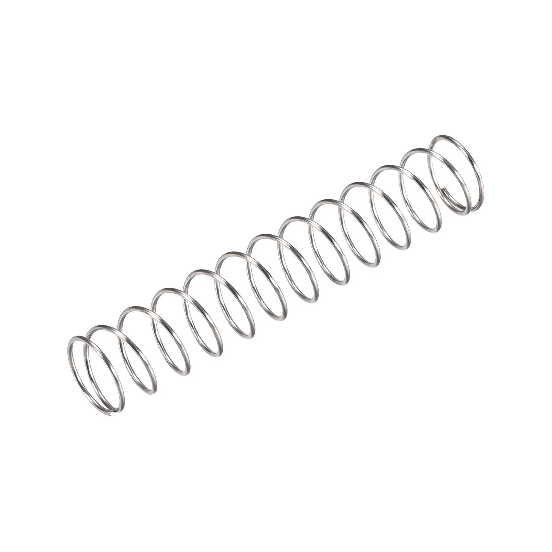 uxcell Compression Spring,304 Stainless Steel,15mm OD,1mm Wire Size,40mm Compressed Length,80mm Free Length,35N Load Capacity,Silver Tone,15pcs
