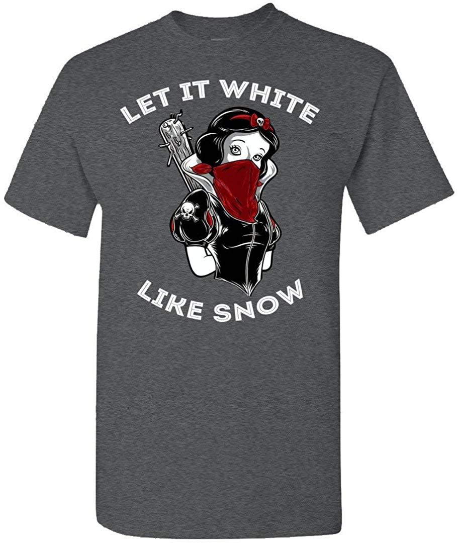 TSHIRTAMAZING Let It White Like Snow Gangster Princess Graphic Tshirt