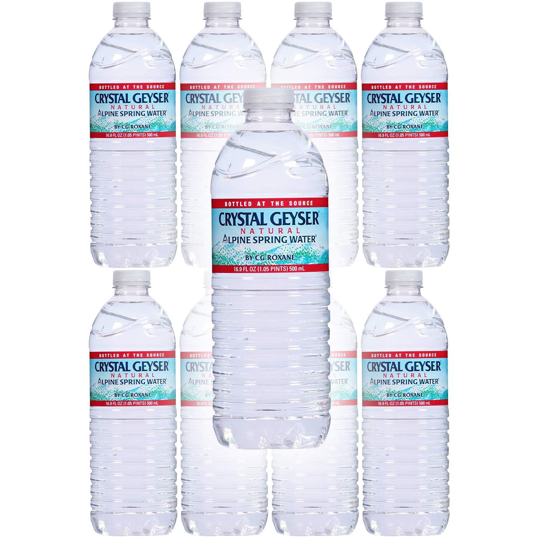 Crystal Geyser Water, Purified Water, 16.9 Fl Oz (Pack of 8, Total of 135.2 Fl Oz)