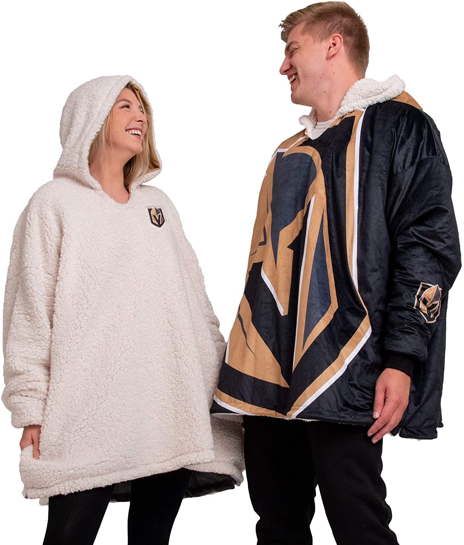 FOCO NHL unisex Reversible Oversized Sherpa Hoodie Sweatshirt Colorblock Hoodeez