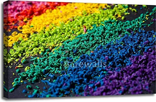Barewalls Color Pigment Gallery Wrapped Canvas Art (24in. x 36in.)