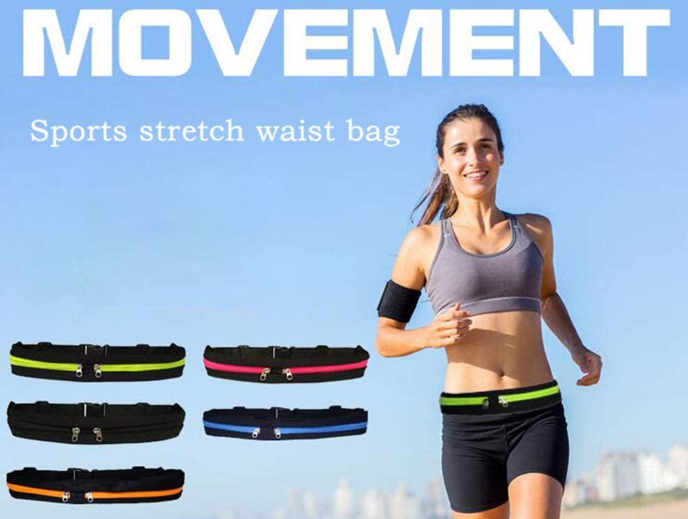 QIXIN Running Belt,Sport Fanny Pack with 2 Expandable Pockets,for Jogging, Cycling and Outdoors with Water Resistant Pockets,Fitness Belt for Women and Men