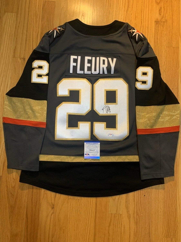 Marc-Andre Fleury Autographed Signed Authentic Fanatics Jersey PSA/DNA Vegas Golden Knights