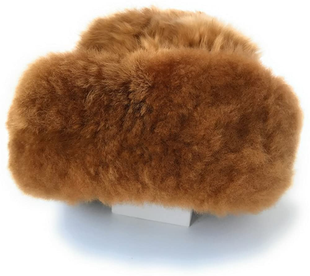 Brown color Baby Alpaca fur hat, handmade with satin lining on the inside.
