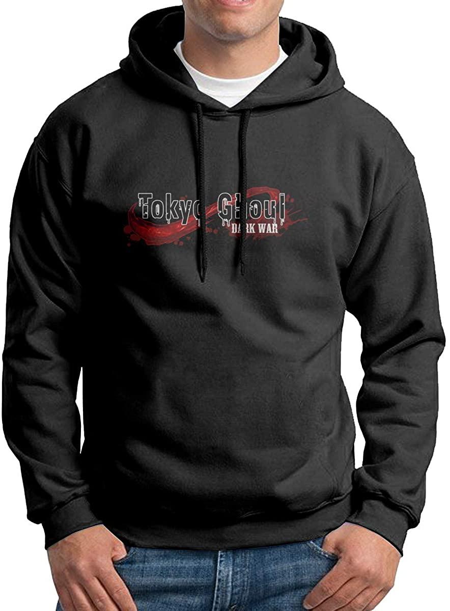 Joseph L Hurwitz Tokyo Ghoul 3D Graphic Printed Men's Hooded Pocketless Sweater Comfortable Wear Resistant