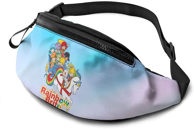 ATSH Rainbow Brite Fanny Pack Running Waist Pack Bag Casual Super Lightweight Fanny Pack for Unisex