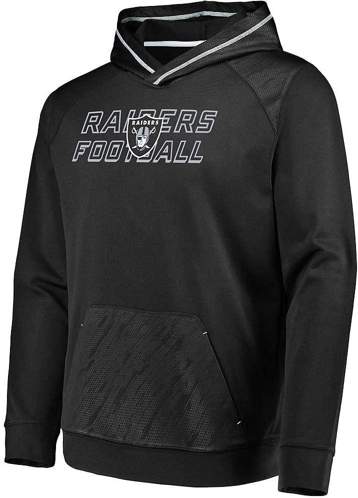 Outerstuff Las Vegas Raiders Football Mens X-Large XL Performance Hooded Sweatshirt - Black