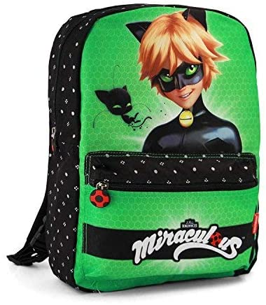 Miraculous Ladybug / Cat Noir Reversible Backpack With Pocket 38cm