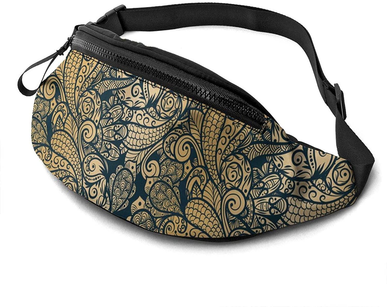 Seamless Paisley Fanny Pack Fashion Waist Bag