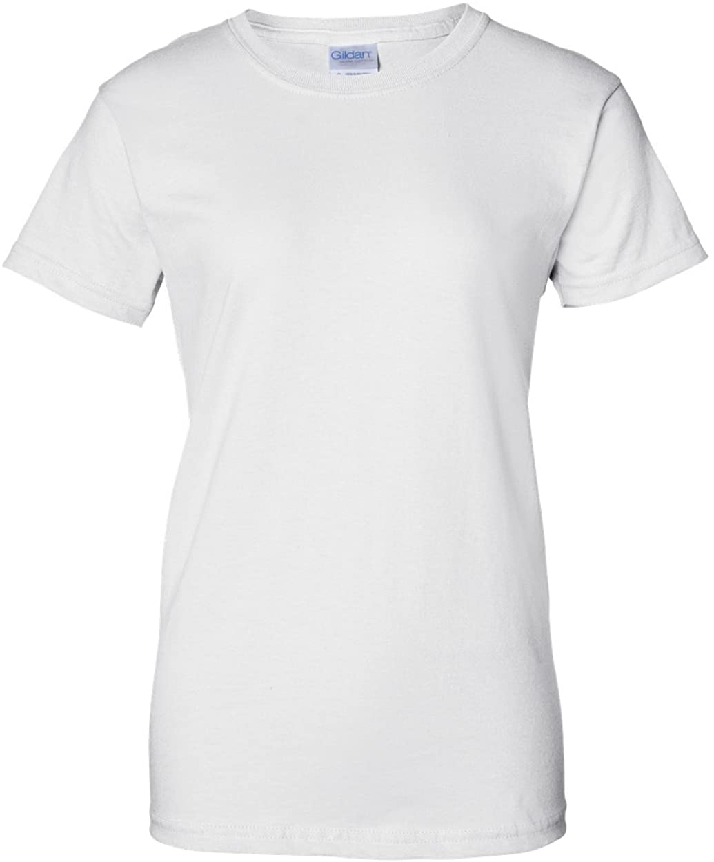 Gildan Ladies Ultra Cotton 100% Cotton T-Shirt, White, XS