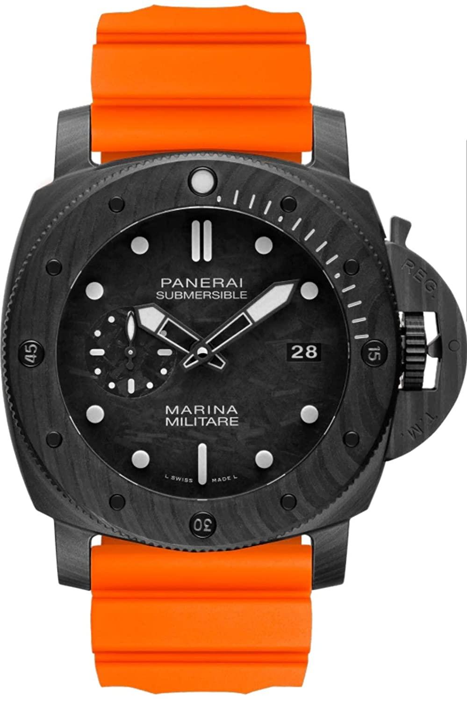 Panerai Submersible Marina Militare Orange Strap Carbotech 47MM PAM00979