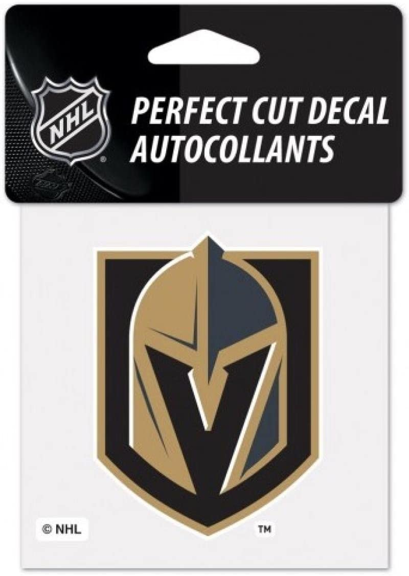 (HCW) Vegas Golden Knights Perfect Cut Color 4x4 NHL Licensed Decal Sticker