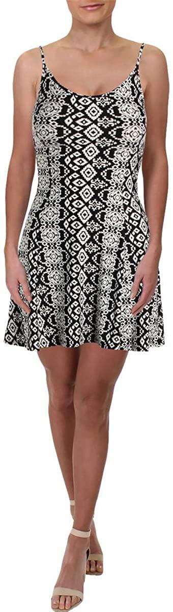 Aqua Womens Aztec Print Mini Tank Dress