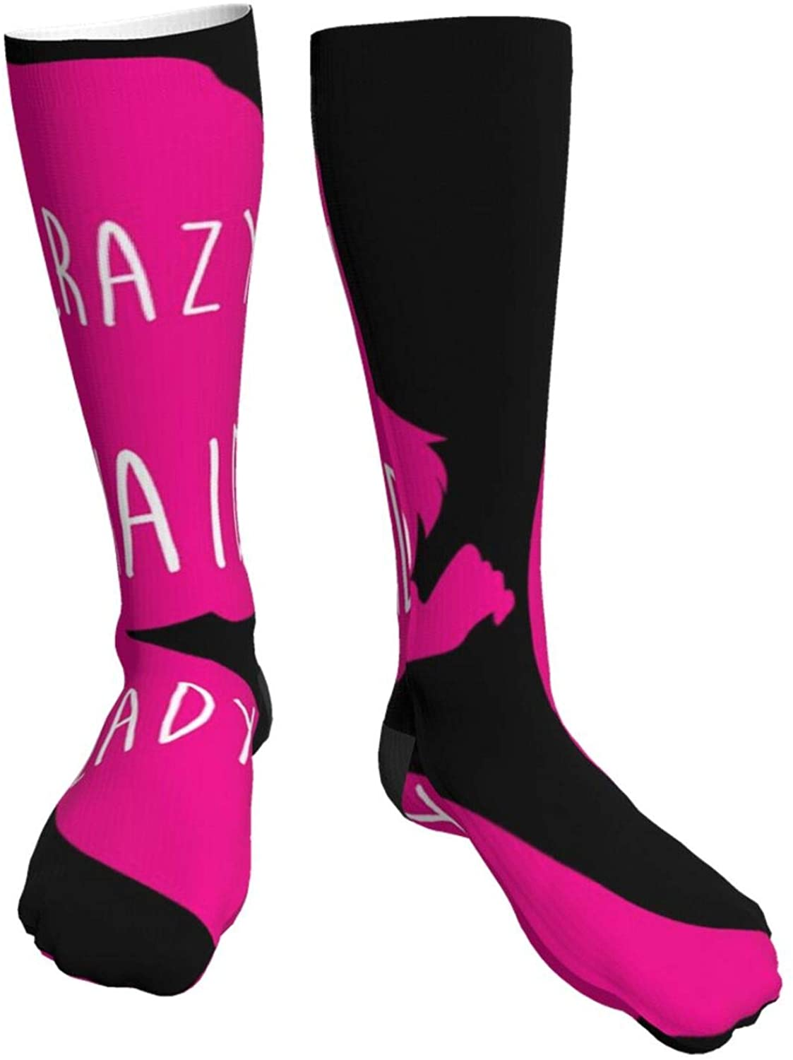 Mens Heavy Thick Socks Crazy Mermaid Lady Soft Comfort Crew Socks Casual Athletic 20in Long The-Calf Sock