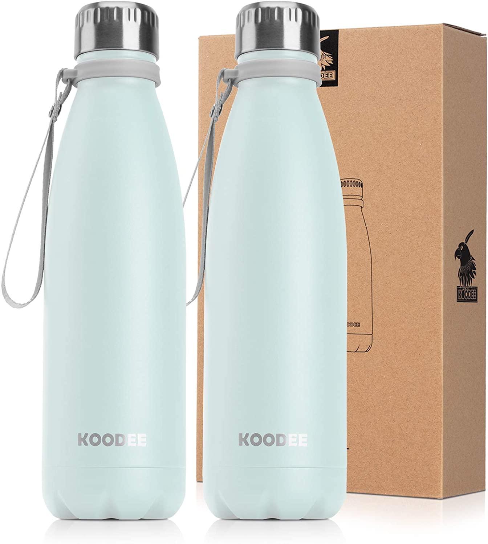 koodee 17 oz Stainless Steel Water Bottle, Double Wall Vacuum Insulated Sports Water Bottle,BPA Free