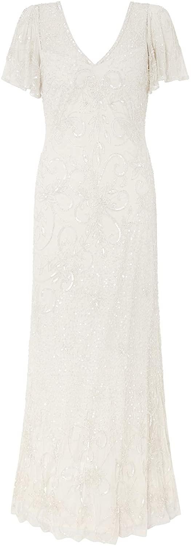 Monsoon Helena Embellished Maxi Wedding Dress Embellished Bridal Dresses - Womens