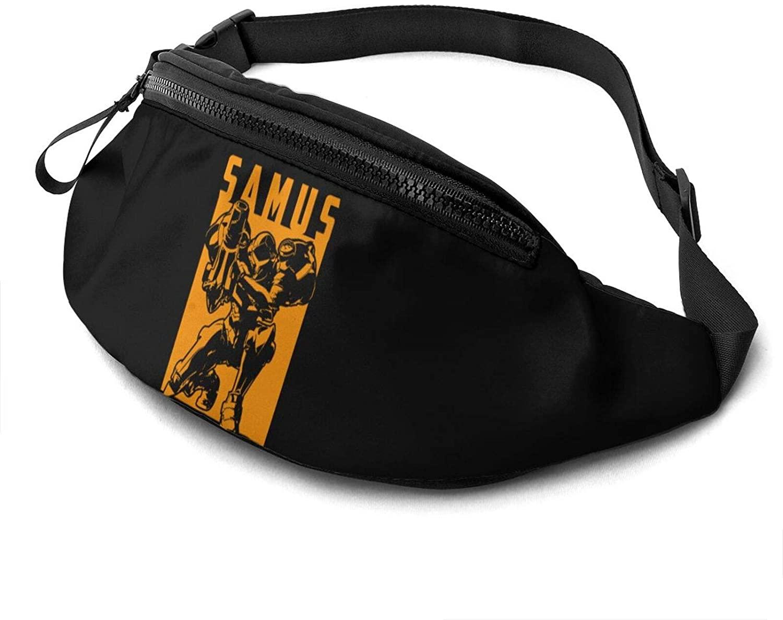 ATSH Super Metroid Fanny Pack Running Waist Pack Bag Casual Super Lightweight Fanny Pack for Unisex