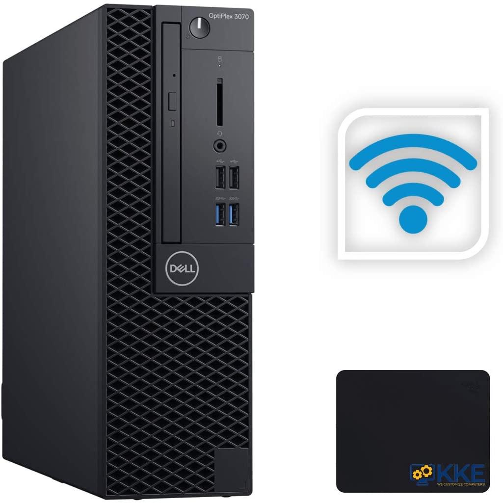 Dell OptiPlex 3070 Small Form Factor Business Desktop, Intel Core i5-9500 6 Cores Processor up to 4.4GHz, 8GB DDR4 RAM, 256GB PCIe SSD, Wireless-AC, HDMI, Windows 10 Pro, Black, KKE Mousepad