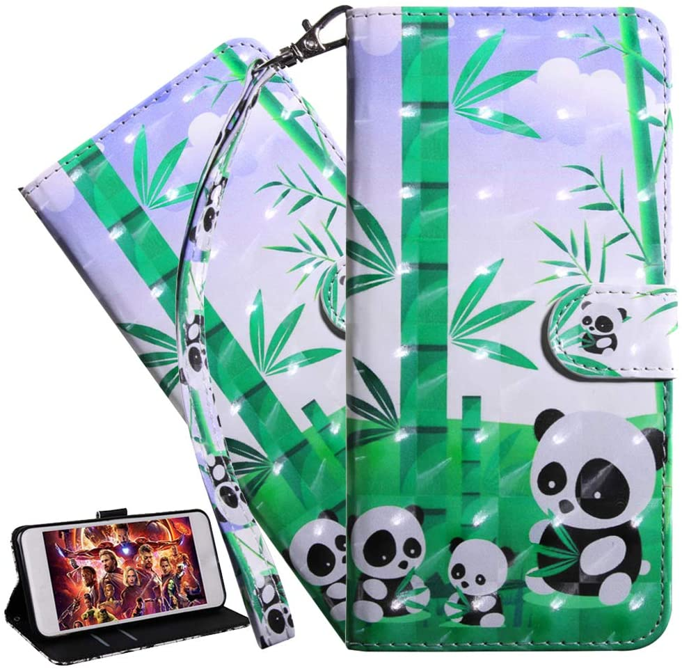 ISADENSER Galaxy A21S Case Samsung Galaxy A21S Cover Wallet 3D Cute Animals PU Leather Flip Notebook Wallet Case Magnetic Stand Card Slot Flip Folio Bumper Case for Samsung Galaxy A21S 3D Art Panda BX