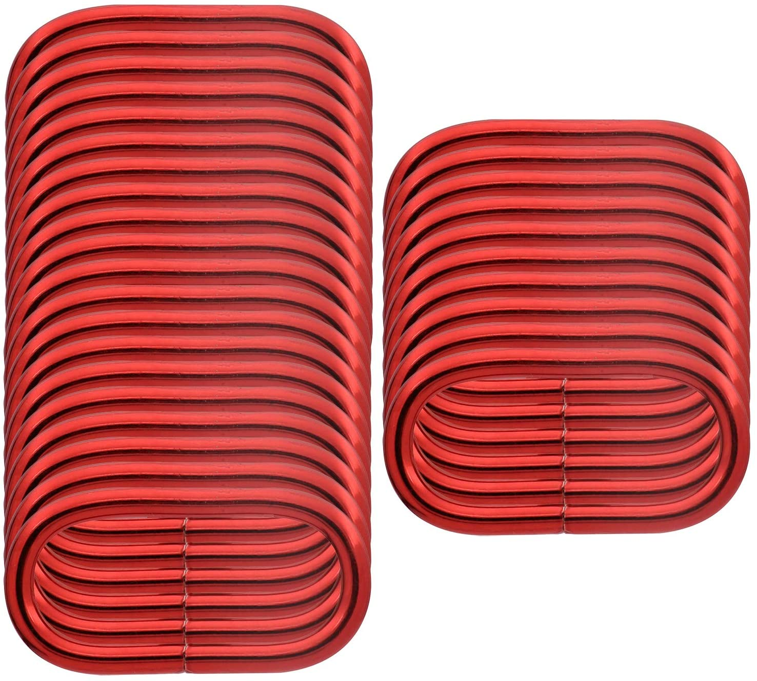 BIKICOCO 1-1/2'' Metal Oval Ring Oval Loops Non Welded for Leather Purse Bags, Handbag Straps, Red - Pack of 30