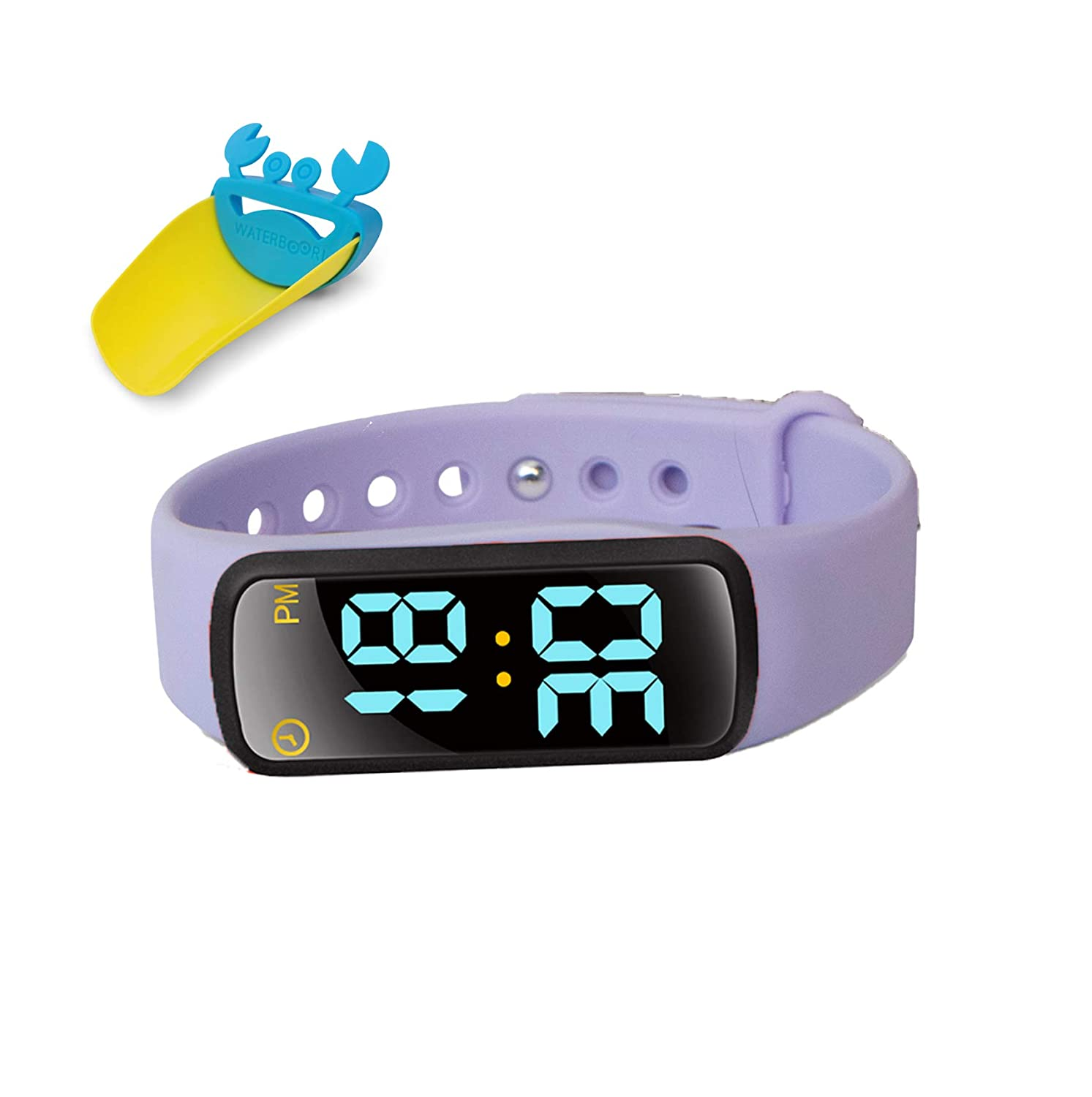 EZ Baby - Toddler Potty Training Watch - Non-Toxic, Waterproof, Rechargeable, Fun and Exciting Potty Training- Boys, Girls- (Purple)