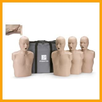 Prestan Professional Adult Jaw Thrust Medium Skin CPR-AED Training Manikins 4-Pack (without Cpr monitor)