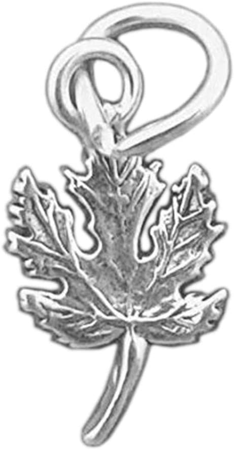 925 Sterling Silver Maple Leaf Charm Miniature Jewelry Making Supply, Pendant, Charms, Bracelet, DIY Crafting by Wholesale Charms