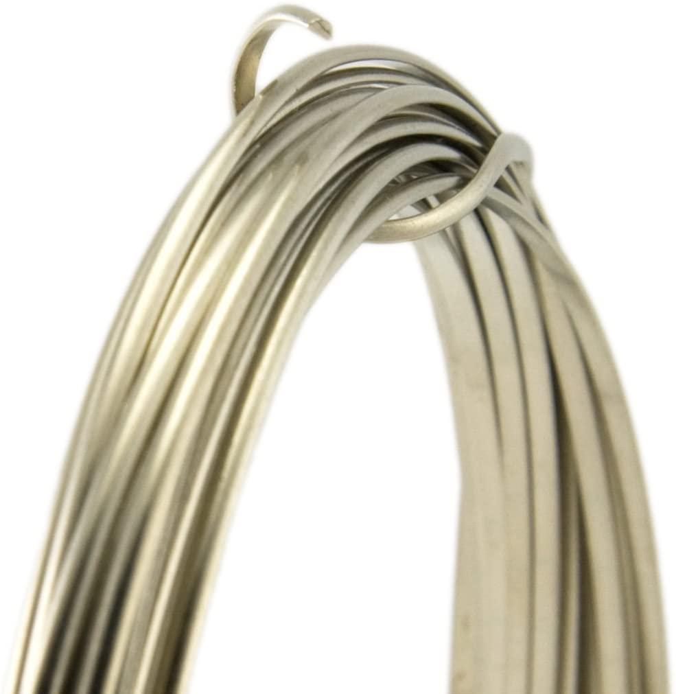 21 Gauge Half Round Half Hard Nickel Silver Wire - 5FT