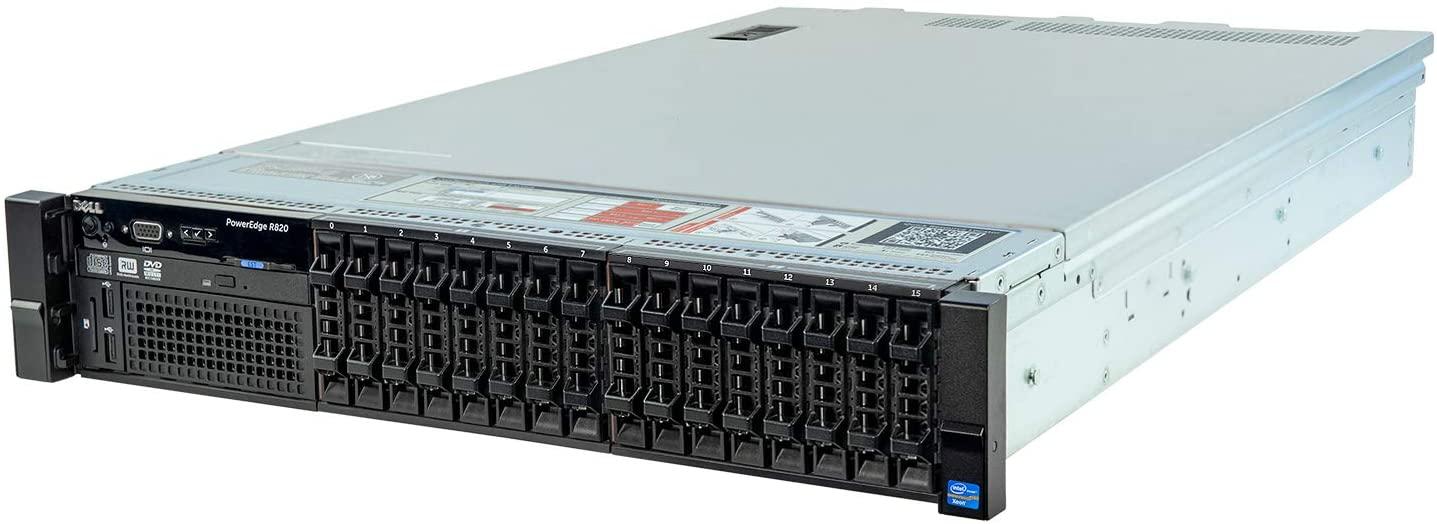 Dell PowerEdge R820 Server 4X E5-4640v2 2.20Ghz 40-Core 512GB H710 (Renewed)