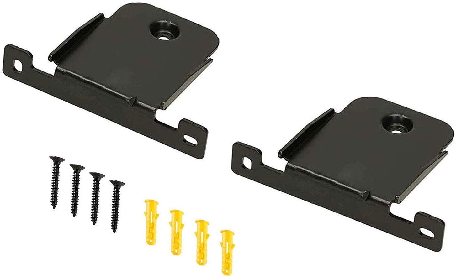 Wall Mount Bracket for LG SH2 Soundbar Speaker Stands, 2 Pieces Black Wall Bracket Holder with Screws