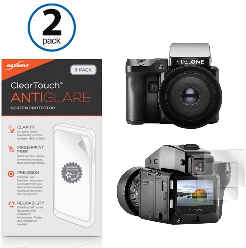 Phase One XF IQ1 Screen Protector, BoxWave [ClearTouch Anti-Glare (2-Pack)] Anti-Fingerprint Matte Film Skin for Phase One XF IQ1, IQ3, IQ2