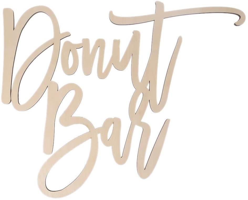 chefensty Exquisite Do-nut Bar Natural Wooden Sign Wedding Party Decoration Novel Design