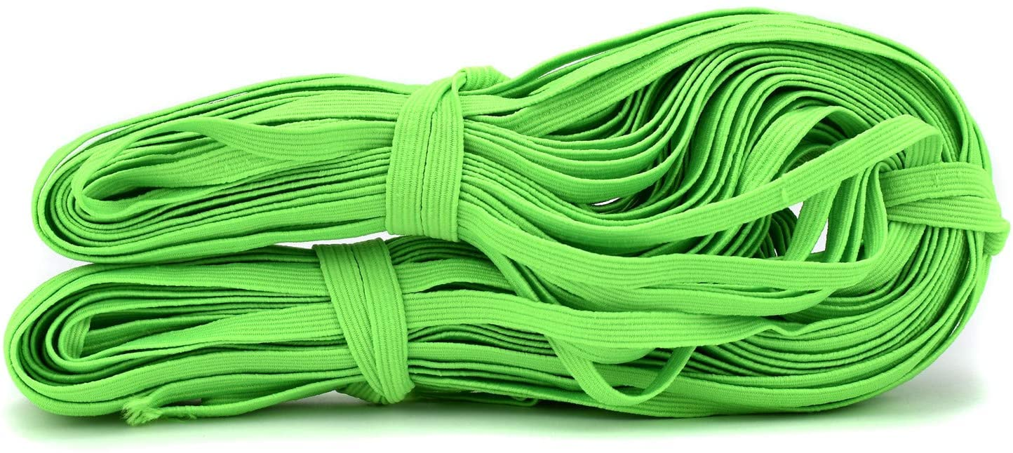 100FIXEO Elastic Band for Sewing 32.8Y Elastic String Sixteen Colors Heavy Stretch Elastic Band for Sewing Craft DIY for Face Mask (15# Emerald Green)
