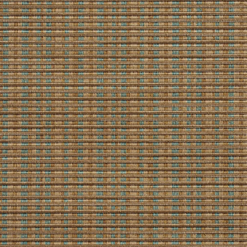 SL005 Beige and Turquoise Woven Sling Vinyl Mesh Outdoor Furniture Fabric by The Yard