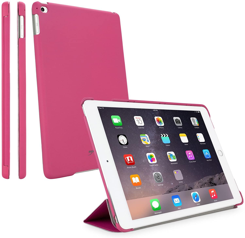 iPad mini 3 Case, BoxWave [Slimline Smart Case] Thin, Hard Shell Smart Cover w/Stand for Apple iPad mini 3, with Retina display - Cosmo Pink