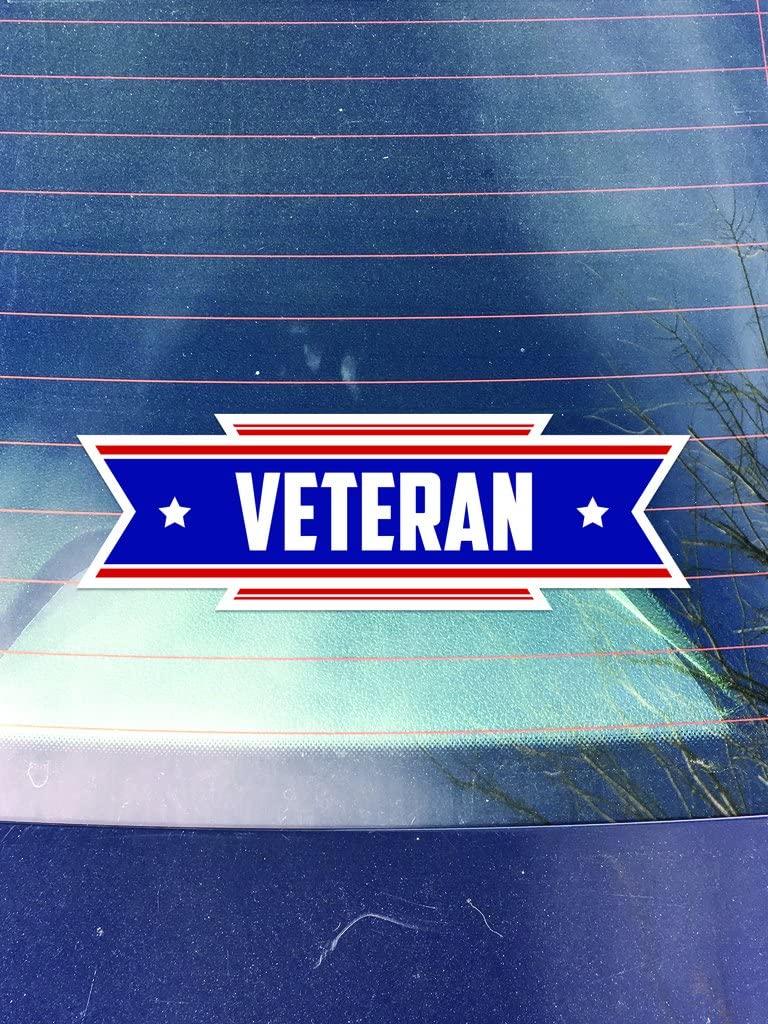 Veteran Vinyl Decals Stickers (Three Pack!)   Cars Trucks Vans Walls Laptops Cups  Printed   3-5 inch Decals   KCD1045
