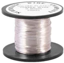 Copper Craft Wire Silver Plated 1.75M Coil 1.5mm Thick