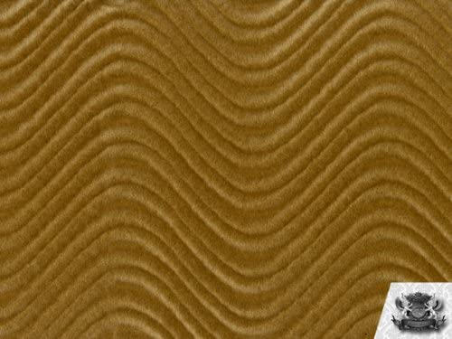 Velvet Flocking Swirl Taupe Upholstery Fabric by The Yard