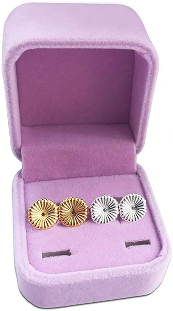 Magic Earring Lifters,2 Pairs of Adjustable Hypoallergenic Sterling Silver Secure Backings- Replacements,Easy to Use Back Earrings for Ear Lobe Lifter,Support Most Posts with Jewelry Case(Daisy)
