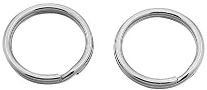 UNICRAFTABLE About 100pcs Stainless Steel Clasps Split Key Ring Flat Round Key Chain Rings for Keychain Jewelry Making 20x1.6mm