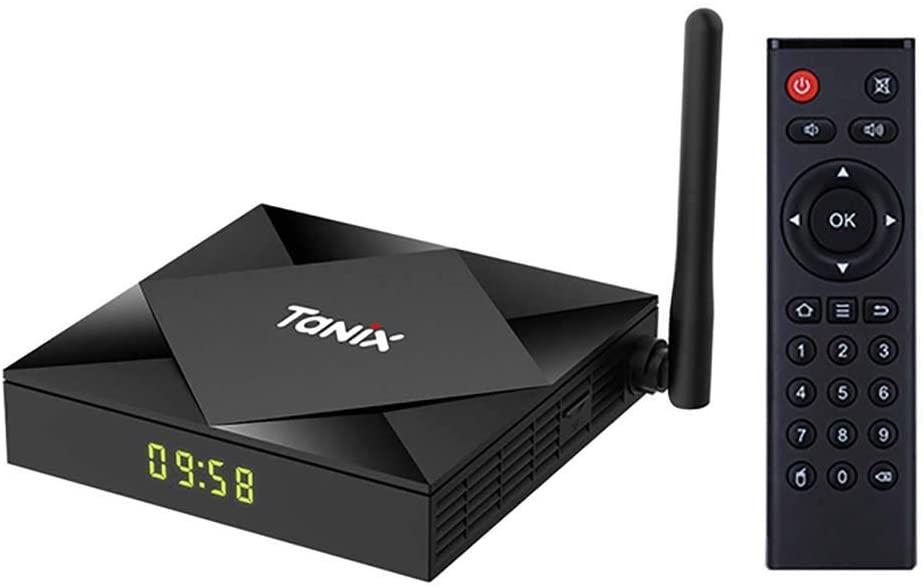 RANRAN TX6S Android 10.0 TV Box 4GB RAM 32GB 64GB ROM Support 2.4/5GHz Dual WiFi BT4.1 Ethernet 3D 4K H.265 HDMI 2.1 Antenna Smart TV Box(4GB 64GB-AU)