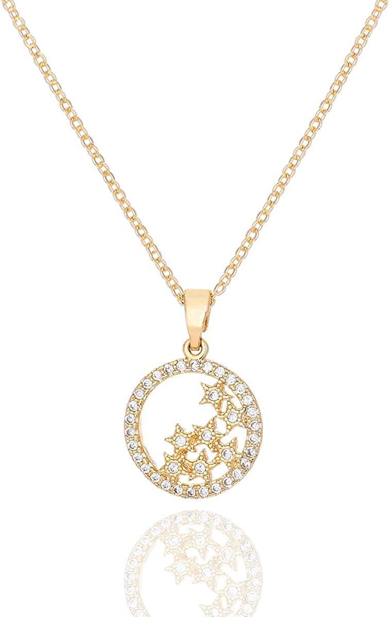 Dainty Women's Pendants Heart Necklace Handmade 14k Gold Plated Choker